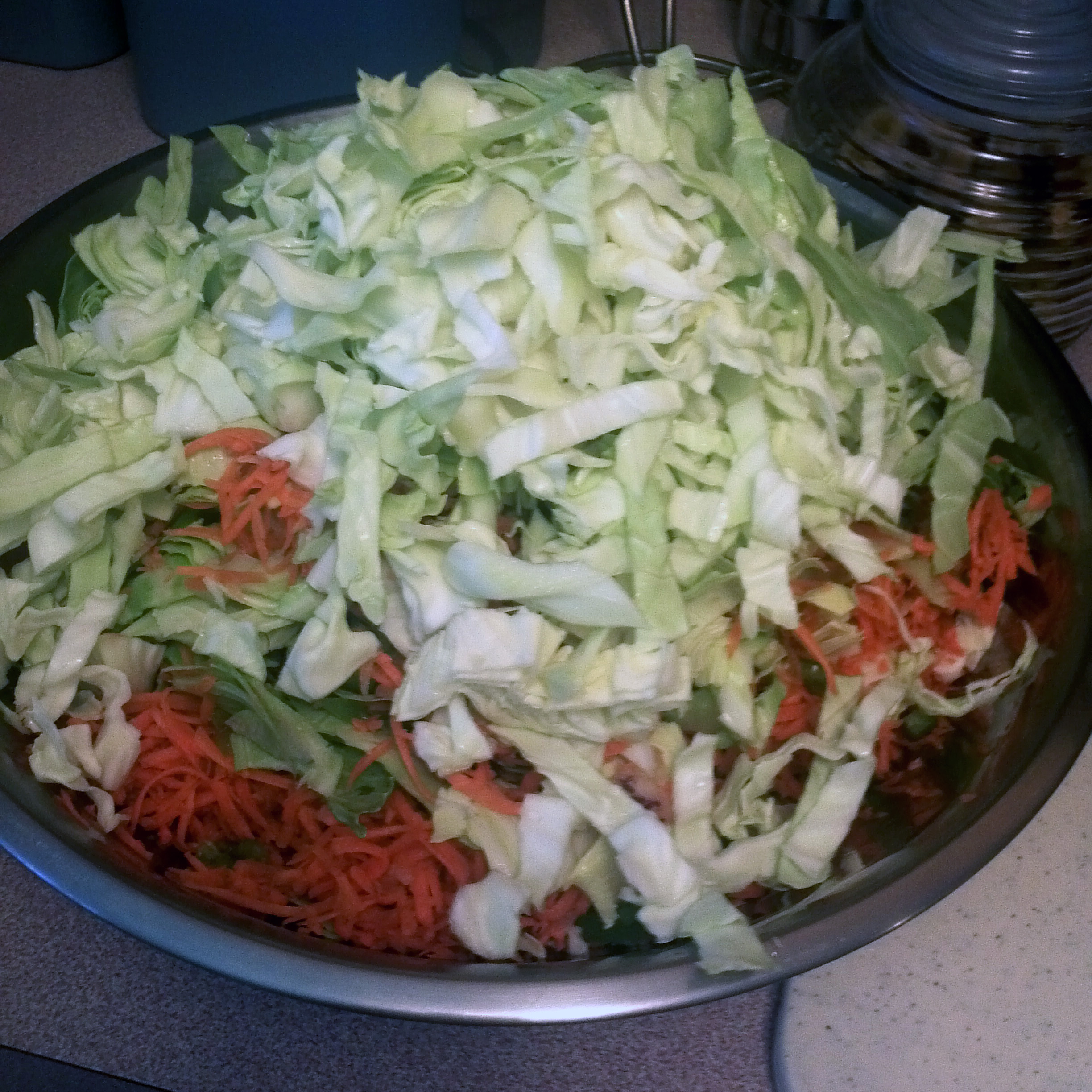 I just basically eyeballed the ratio of cabbage to the rest of the ingredients.