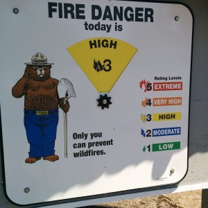 In the decade I've lived in the Cascade Foothills, I've never seen the fire danger so high.