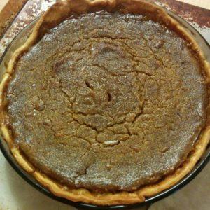 My homemade pumpkin pie.
